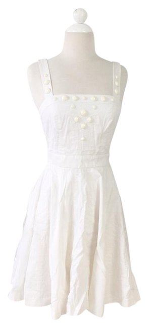 Preload https://img-static.tradesy.com/item/22341456/ax-armani-exchange-white-fit-and-flare-mid-length-short-casual-dress-size-4-s-0-1-650-650.jpg