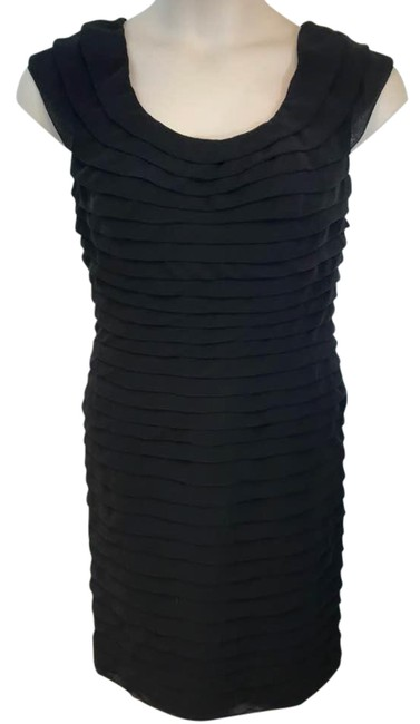 Preload https://img-static.tradesy.com/item/22341490/adrianna-papell-black-tiered-mid-length-night-out-dress-size-12-l-0-2-650-650.jpg