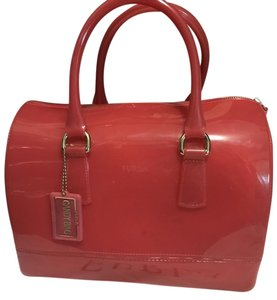 Furla Candy Satchel in Red