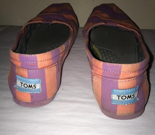 TOMS Striped Purple & Peachy Flats