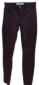 Marc by Marc Jacobs Skinny Pants Plum Burgundy