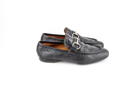 Gucci * Black Gg Signature Loafers Shoes