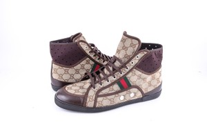 Gucci * Web Stripe High Top Sneakers Shoes