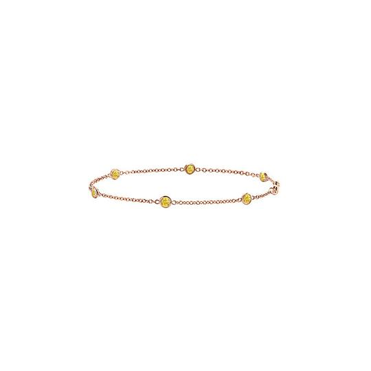 Preload https://img-static.tradesy.com/item/22341790/yellow-sapphire-station-bezel-set-in-14k-rose-gold-7-inches-bracelet-0-0-540-540.jpg