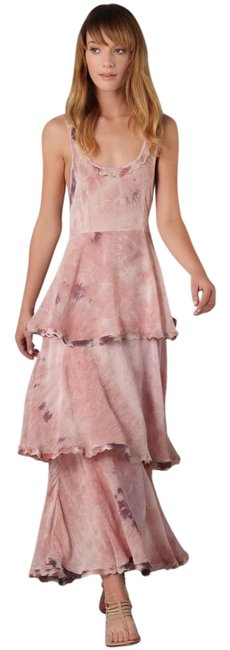 Free People Rose New Romantics Tiered Hippie Trip Maxi Long Formal Dress Size 4 (S) Free People Rose New Romantics Tiered Hippie Trip Maxi Long Formal Dress Size 4 (S) Image 1