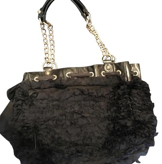 Preload https://img-static.tradesy.com/item/22342054/juicy-couture-ruffle-black-fabric-leather-shoulder-bag-0-1-540-540.jpg