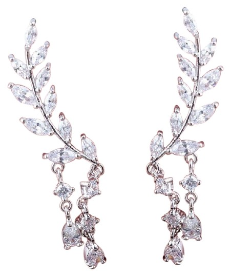 Preload https://img-static.tradesy.com/item/22342145/luxury-925-sterling-silver-clad-cz-crystal-long-leaves-aaa-zircon-earrings-necklace-0-1-540-540.jpg