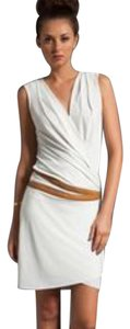 Graham & Spencer short dress white, tan leather on Tradesy