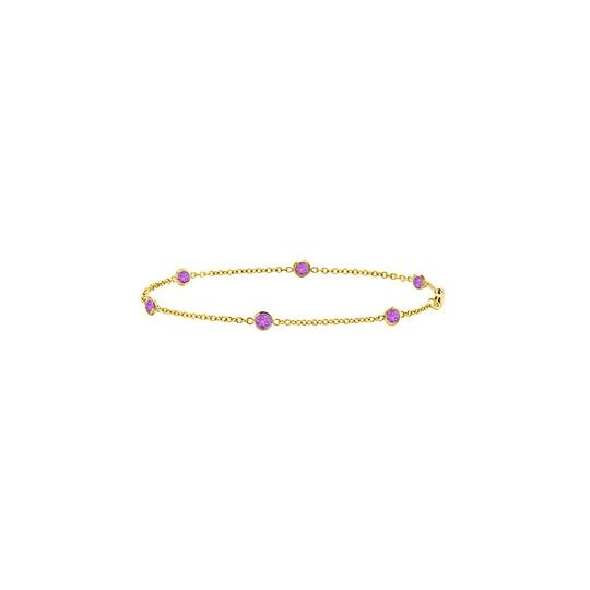 Preload https://img-static.tradesy.com/item/22342211/purple-amethyst-station-bezel-set-in-14k-yellow-gold-7-inches-bracelet-0-0-540-540.jpg