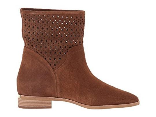 Michael Kors Suede Leather Ankle Perforated Brown Boots