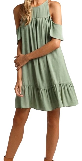 Preload https://img-static.tradesy.com/item/22342299/suboo-mint-green-valley-khaki-frill-kaftan-short-casual-dress-size-os-one-size-0-1-650-650.jpg