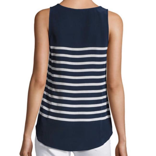 Joie Top Navy Blue & White