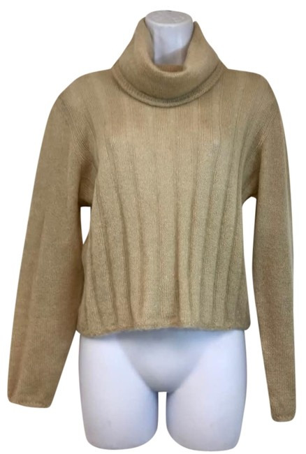 Preload https://img-static.tradesy.com/item/22342356/tan-made-in-italy-cowl-neck-mohair-silk-blend-knit-sweaterpullover-size-6-s-0-2-650-650.jpg