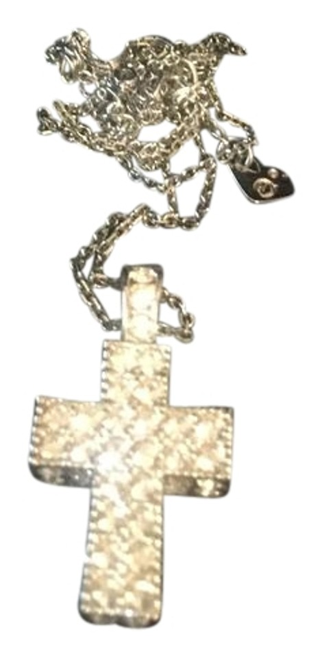 3d0991cfcb Swarovski Swarovski Crystal Pave 3D Cross Pendant and necklace Image 0 ...