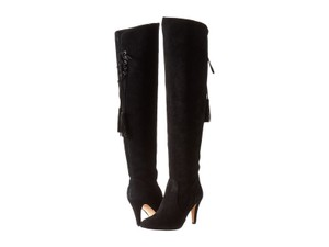 Vince Camuto Suede Leather Over The Knee Black Boots