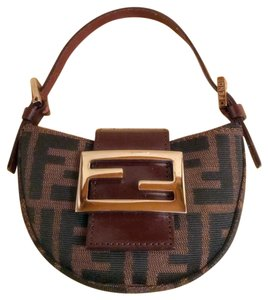 Fendi black and brown Clutch