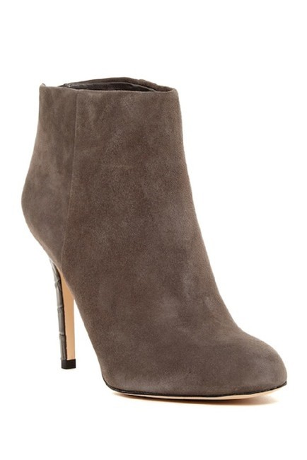 Item - Gray Kourtney Suede Leather Croc Heel Ankle Boots/Booties Size US 6 Regular (M, B)