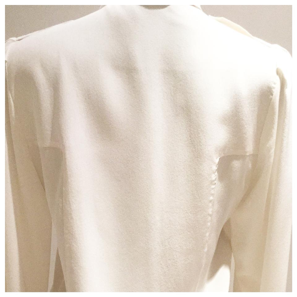 03c0962f Gucci Ivory / Cream Silk Military Button Front Blouse. Button-down ...