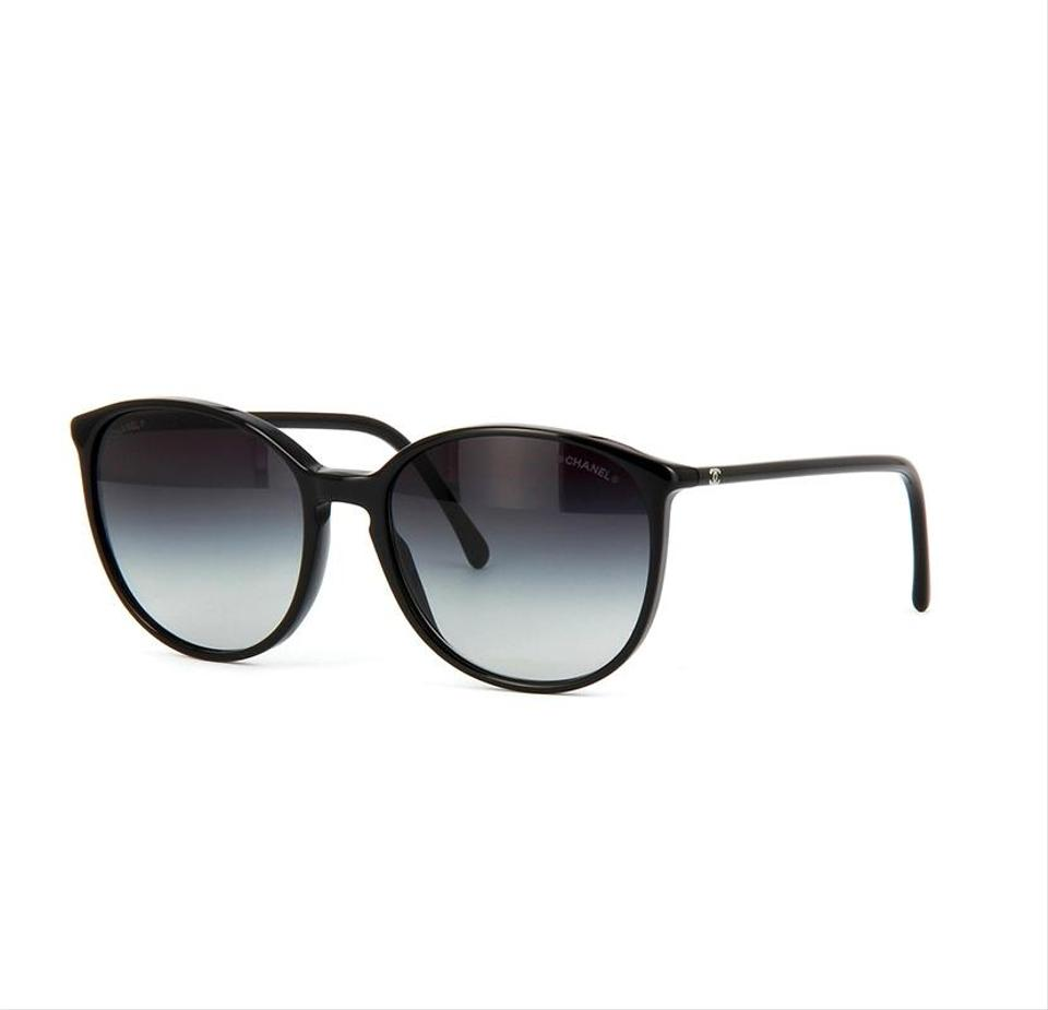 f43fefbd0 Chanel Black Butterfly Spring Chanel Sunglasses with Gray Gradient Lenses  Image 0 ...
