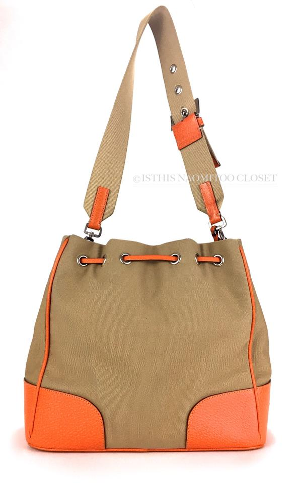 9e4900cab4e1 Prada Orange Travel Drawstring Casual Leather Shoulder Bag Image 8.  123456789