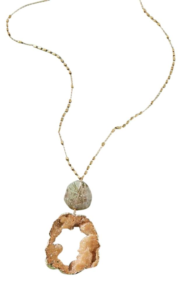 Anthropologie druzy pendant necklace tradesy anthropologie anthropologi druzy pendant necklace aloadofball Image collections