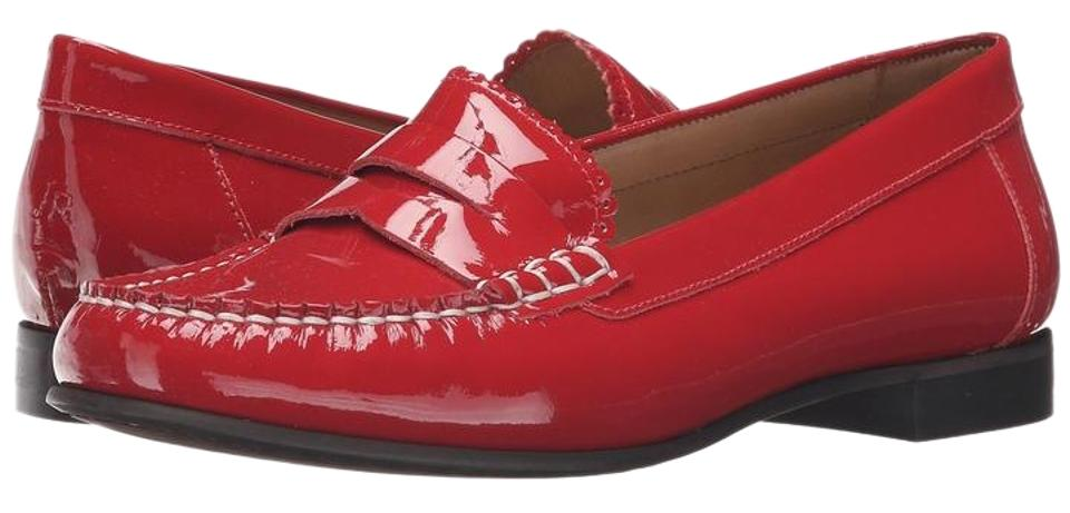 4894c93a5ba Jack Rogers Red Quinn Patent Leather Penny Loafers Flats Size US 9 ...