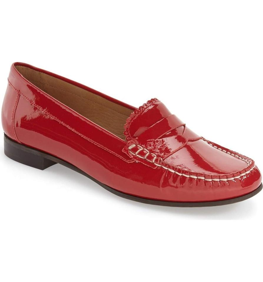 af83f55c91b Jack Rogers Red Quinn Patent Leather Penny Loafers Flats Size US 9 Regular  (M