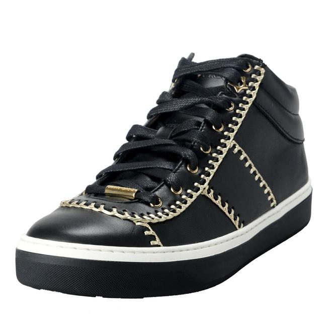 Item - Multi-color Women's Leather Whipstitching Lace Up Hi Top Fashion Sneakers Size US 9 Regular (M, B)