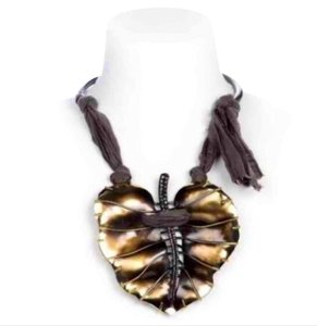 Lanvin Authentic Lanvin leaf necklace