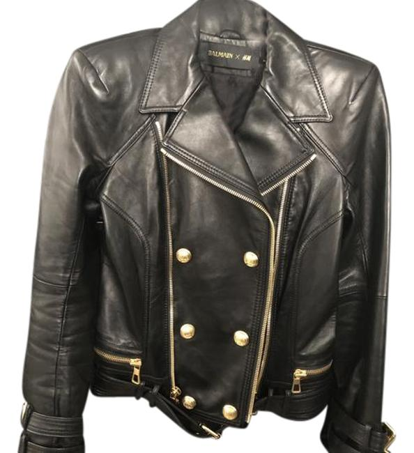 Item - Black with Gold Collection Jacket Size 6 (S)