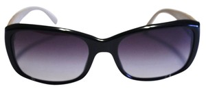 Chic Changeables Chanel Sunglasses 5201 Black Rectangular Tan Quilted Leather Arms 56mm