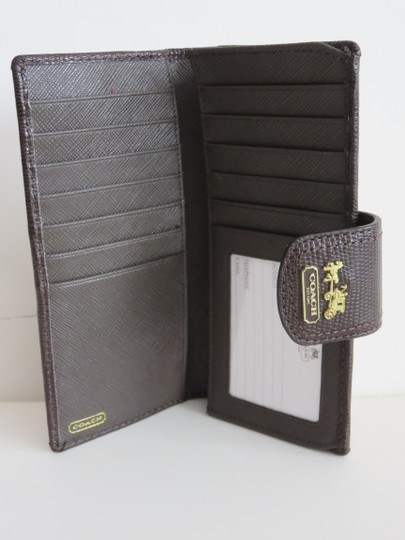 Coach Nwt Coach Brown Lizard Leather Khaki Madison OP Signature Wallet Image 2