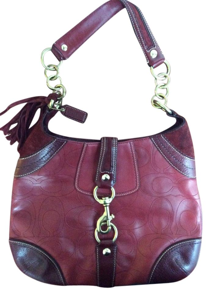 80f6872b7032 Coach Red Leather Hobo Bag | Stanford Center for Opportunity Policy ...