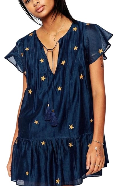 Item - Navy with Stars Never Worn Super Cute Short Casual Dress Size 8 (M)