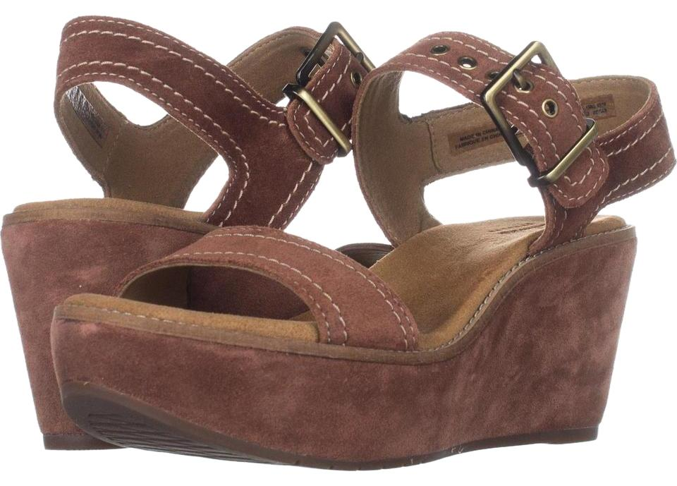 0ba2666a1def Clarks Brown Aisley Orchid Sandals Dark Tan Suede   37.5 Eu Wedges ...