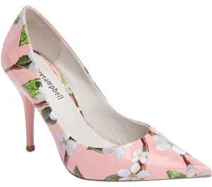 Jeffrey Campbell Patent Leather Floral Pointed Toe Pink Pumps