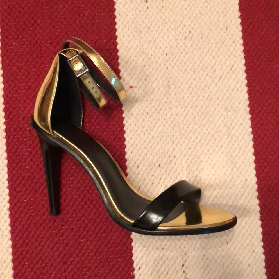 f796cff4325 Tibi Black and Gold Amber Ankle Strap Heels Formal Shoes Size EU 38 ...