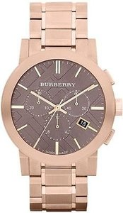 Burberry Burberry The City Rose Gold-tone Chronograph Mens Watch Bu9353