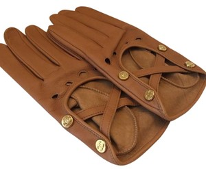 Chanel CHANEL NIB CAMEL LAMBSKIN DRIVING GLOVES (SIZE 7.5) ($1050 W/TAX)