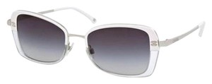 Chanel White and Clear Square Sunglasses