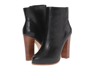 ALDO Chunky Leather Platform Black Boots