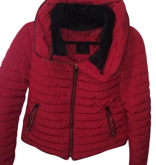 Item - Red Womens Quilted Puffer Coat Size 12 (L)