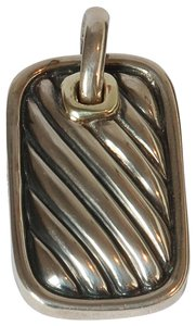David Yurman David Yurman Sculpted Cable Rectangle Pendant