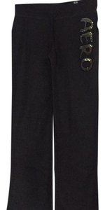 Aéropostale Straight Pants Charcoal Grey, Gold & Silver Sequins