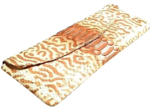 Belle Crotto Couture Light Brown Clutch