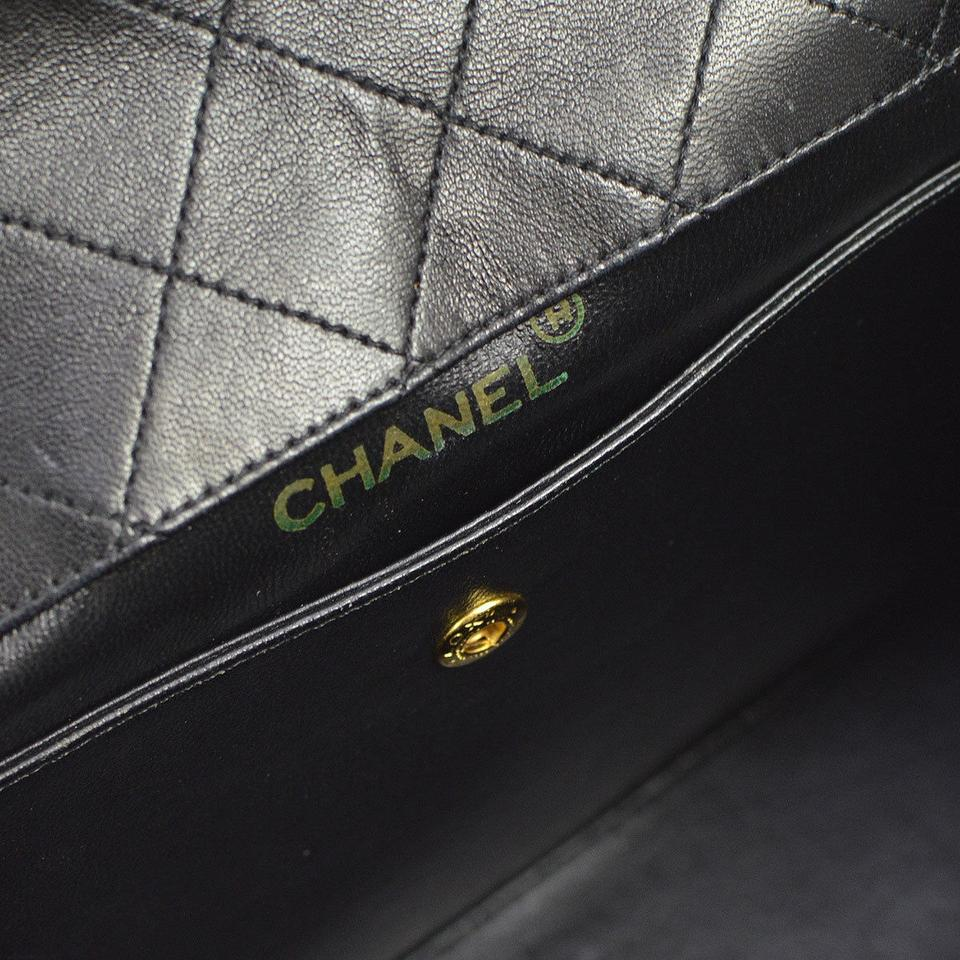 cb27f98a4954 Chanel Quilted Two Tone Vintage Rare Flap Black and White Lambskin ...