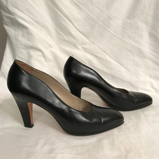 Salvatore Ferragamo Pump Leather Vintage Designer Black Platforms Image 4