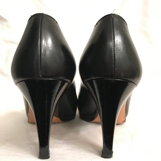 Salvatore Ferragamo Pump Leather Vintage Designer Black Platforms Image 5