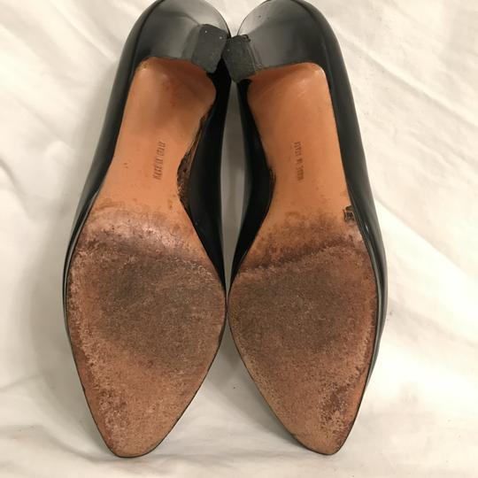 Salvatore Ferragamo Pump Leather Vintage Designer Black Platforms Image 8