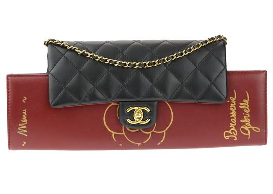 Chanel Flap Rare Burgundy & Black Clutch Image 0